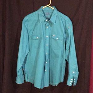 Men's XXL Wrangler Button Down Shirt Pearl Snap